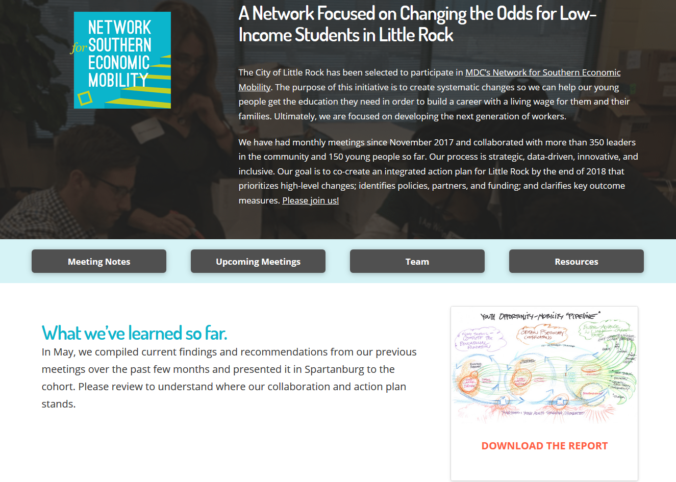 Network for Southern Economic Mobility Web Hub